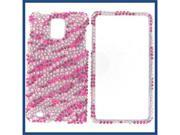 Samsung i997 (Infuse 4G) Full Diamond Hot Pink Zebra Protective Case