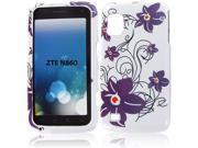 ZTE N860 (Warp) Purple Petal Flower Protective Case