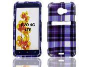 HTC Evo 4G LTE Purple Plaid Protective Case