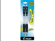 Pilot G2 Mechanical Pencil0.5 mm Lead Size - Black, Clear Barrel - 2 / Pack