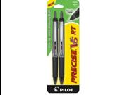 Pilot Precise V5 RT Rollerball Pen  - Black Ink - Black Barrel - 1 / Pack
