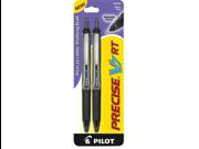 Pilot Precise V7 RT Rollerball Pen  - Black Ink - Black Barrel - 1 / Pack
