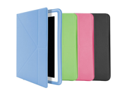 ILUV ICC843GRN IPAD(R) 3 ORIGAMI SLIM FOLIO COVER WITH MULTIPLE ANGLE STAND (GREEN)