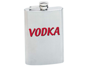 Maxam  8oz Stainless Steel Flask with VODKA Graphic
