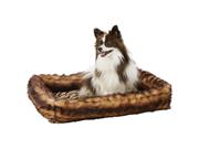 Maxam Pet Club Reversible Faux Mink Pet Bed
