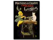 Machines a Coudre-Gallery Wrapped 24x32 Canvas Art