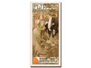 Flirt by Alphone Mucha-Framed 24x47 Canvas Art