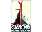 Chamonix Mont Blanc by Henry Reb-Framed 30x47 Canvas Art