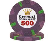National Poker Series PaulsonR Chip $500 Purple