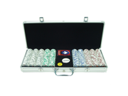 500 11.5g 4 Aces Poker Chip Set w/Aluminum Case
