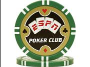 ESPNR Poker Club Professional 11.5g Poker Chip - Green
