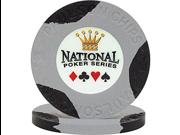 National Poker Series PaulsonR Chip - No value Gray