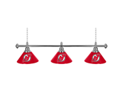 NHL New Jersey Devils 60 Inch 3 Shade Billiard Lamp