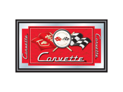 Corvette C1 Framed Mirror - Red