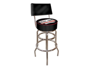 Four Aces Padded Bar Stool with Back