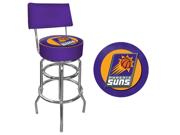 Phoenix Suns NBA Padded Swivel Bar Stool with Back