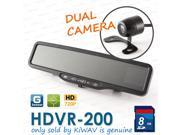 ABEO HDVR-200 Dual camera CAR DVR Rear View Mirror G SENSOR accident camera 8G SD card  ONLY KiWAV sold is authentic