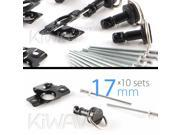 Magazi 1/4 turn Quick Release Fastener Motorcycle Scooter Fairing rivet on 17mm 10 Pieces Black