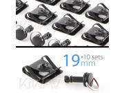 Magazi 1/4 turn Quick Release Fastener Motorcycle Scooter Fairing clip on 19mm 10 Pieces Black