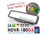 ABEO HDVR-180G3 FHD 1080P@30FPS CAR DVR Rear Mirror G SENSOR WDR LDWS + FCWS time machine crash cam recorder 16gb SD