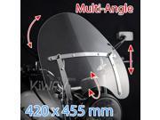 "KiWAV windshield windscreen 420mm x 455mm 16""x18"" for Harley-Davidson motorcycle cruiser  1"" 7/8"" bar mount"