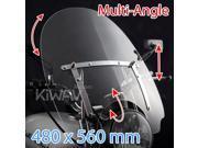 "KiWAV windshield windscreen 480mm x 560mm 18""x22"" for Harley-Davidson motorcycle cruiser  1"" 7/8"" bar mount"