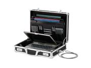 Vaultz VZ01216 Locking Dj Laptop Case (Black) Computer Recording Case & Bag