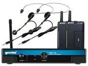 Gemini UHF-216HL UHF Headset & Lavalier System UHF Wireless Combo Mic System