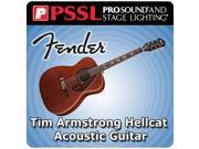 Fender Tim Armstrong Hellcat Acoustic Guitar Six String Non-Cutaway Acoustic Guitar