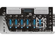 Mr Dj DM5858 Professional DJ Mixer with Dual 3 Band Graphic Equalizer, Crossfader and 6 Effect Sound 4 Channel