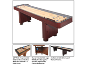 Challenger Deluxe 12' Shuffleboard Game Table By Carmelli - Dark Cherry
