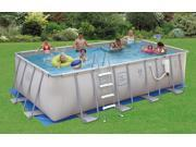 "Proseries 12X24' Rectangle - 52"" Deep Metal Frame Above Ground Swimming Pool"