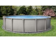 "Matrix 18' Round 54"" Resin Above Ground Swimming Pool With 8"" Toprail"