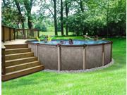 Riviera Metal Wall Above-Ground Swimming Pool - 27' Round and 54'' Deep