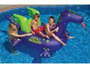 "Giant Sea Dragon Inflatable Swimming Pool Riding Float for Kids - 115"" long"