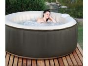 Aero Spa 4 Person Inflatable Portable Heated Hot Tub Spa w/Floating Thermometer