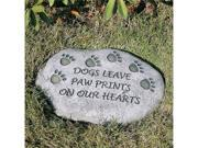 EverGreen Enterprises Dogs Leave Paw Prints on our Hearts Tiding Stone