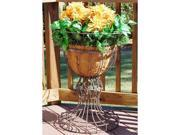 Griffith Creek Alexandria Flower Urn Leather Black