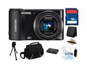 Samsung WB150F 14MP (Black) SMART Long Zoom WiFi Digital Camera with 18x Optical Zoom, Everything You Need Kit, EC-WB150FBPBUS