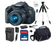 Canon EOS REBEL T3i Black 18 MP Digital SLR Camera with 18-55mm IS II Lens, Beginner's Bundle Kit, 5169B003