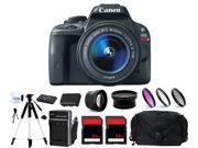 Canon EOS Rebel SL1 100D Digital Camera w/ 18-55mm + 64GB Flash Bundle Kit
