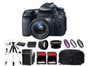 Canon EOS 70D Digital Camera + 3 Lens 18-55mm + 64GB Complete Bundle Kit