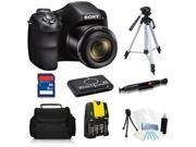 Sony Cyber-Shot DSC-H200 20.1 MP Digital Camera + 8GB Essential Kit with Tripod