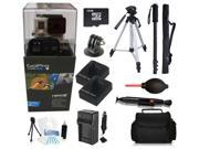 GoPro Hero 3+ Black Edition 16GB Tripod/Monopod Advanced Outdoor Bundle Kit for Skiing, Snowboarding, Skydiving, Kayaking and More!