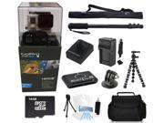 GoPro Hero 3+ Black Edition + (16GB Monopod/Gorilla Tripod Accessory Kit) for Jetskiing, Scubadiving, Snowboarding, Skiing, Swimming and More!