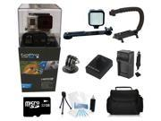 GoPro Hero 3+ Black Edition + (32GB Pro LED Light and Holster Kit) for Skate Boarding, Rollerblading, Skiing, Snowboarding, Skydiving and More!