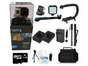 GoPro Hero 3+ Black Edition + (32GB Pro LED Light/Monopod Kit) for Skate Boarding, Rollerblading, Skiing, Snowboarding, Skydiving and More!