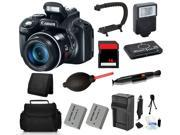 Canon PowerShot SX50 HS 12MP Digital Camera + (16GB Professional Flash Bundle)