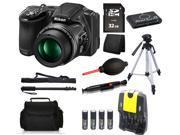 Nikon COOLPIX L830 16 MP Camera + 32 GB All You Need Accessory Bundle Kit