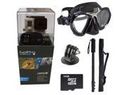 GoPro Hero 3+ Black Edition + XS Scuba Diving Mask / Monopod + 16GB Professional Scuba Diving, Snorkeling and Underwater Activities Kit